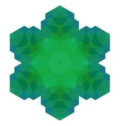 Polygonal green symbol vector