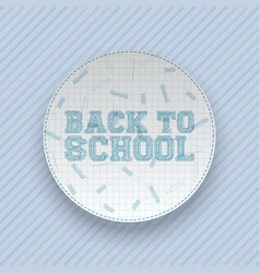 Back to school greeting circle banner vector