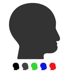 Bald head flat icon vector