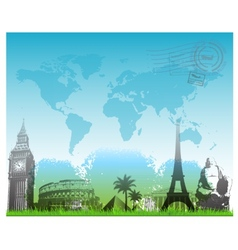 Beautiful travel europe background vector
