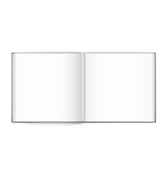 blank of open square magazine on white background vector image vector image