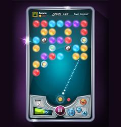 Bubble game user interface vector