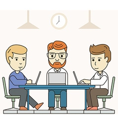 Business meeting in shared working environment vector