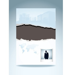 business paper vector image