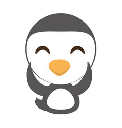 Cute penguin animal character funny vector