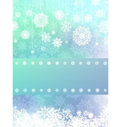 Elegant background with snowflakes EPS 8 vector image vector image