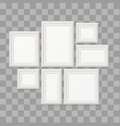 empty white picture frames 3d photo borders vector image vector image
