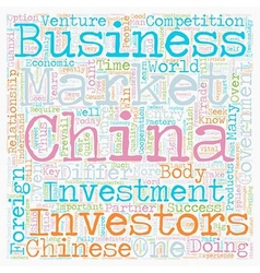 How to do business in china text background vector