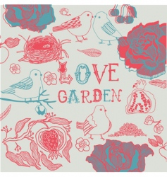love garden background vector image vector image