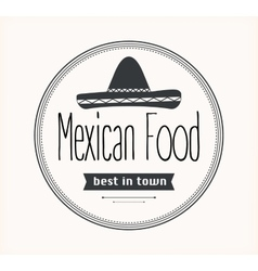 Mexican food logo vector image
