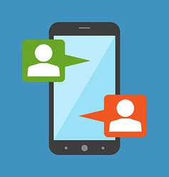 Mobile chat modern social interaction concept flat vector