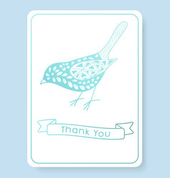 Pattern for thank you invitation vector
