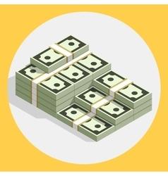 Piles stacks cash money flat vector
