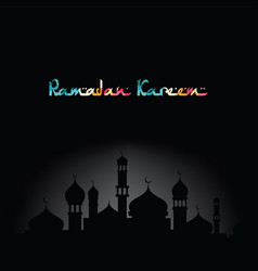Ramadan kareem greeting muslim islamic celebration vector