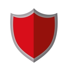 Red shield protection premium shadow vector