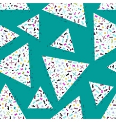 seamless background geometric triangle vector image vector image