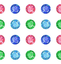 Seamless texture of colored gems vector image vector image