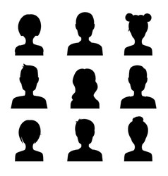 set of avatar user icon people flat icons vector image