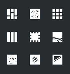set of flooring icons vector image vector image