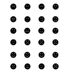 Smiley icons 5 vector