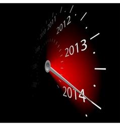 speedometer 2014 vector image vector image