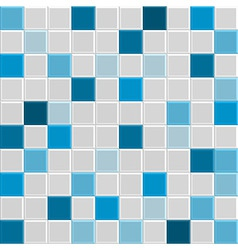 square tile wall blue vector image vector image