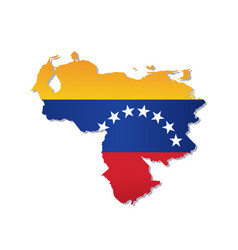 venezuela flag amp map vector image