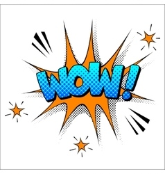 Wow sound effect vector image