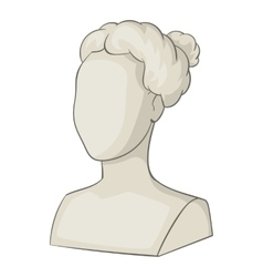 Sculpture head of woman icon cartoon style vector