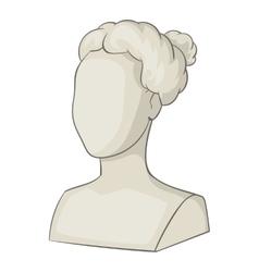 Sculpture head of woman icon cartoon style vector image