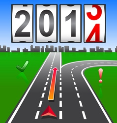 2014 new year counter vector