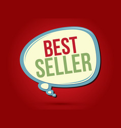 best seller text in balloons vector image