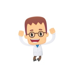 Scientist in various poses vector