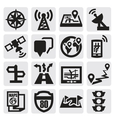 Navigation icons vector