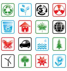icon set environment vector image