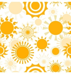 Sunny seamless pattern vector