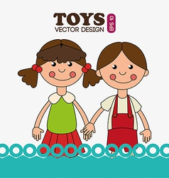 Toys design over white background vector