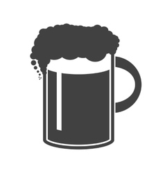 Beer in mug icon on white vector