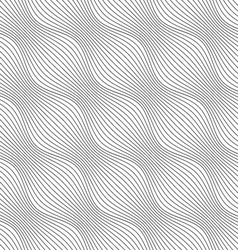 Gray ornament diagonal bulging waves vector