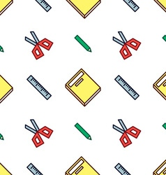 Crisp Stationery Pattern vector image