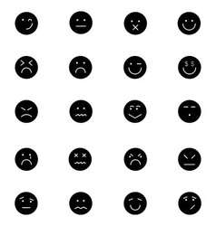 Smiley icons 6 vector