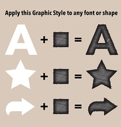 Sketch graphic style vector