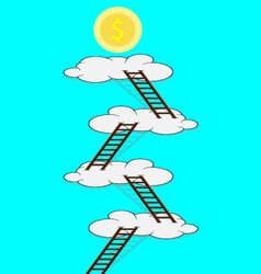 Stairway to the cloud for money vector