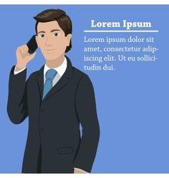 European success businessman concept vector