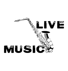 Live music saxophone white vector