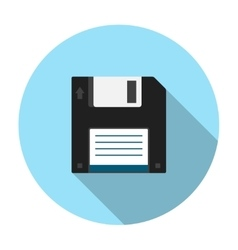 Floppy disk flat icon vector