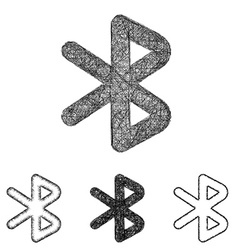 Bluetooth icon set - sketch line art vector