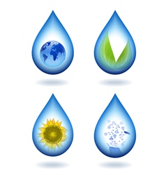 Drops of water content vector