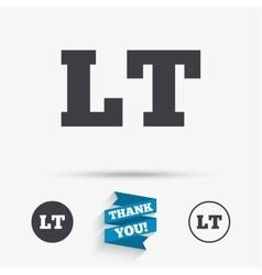 Lithuanian language sign icon lt translation vector