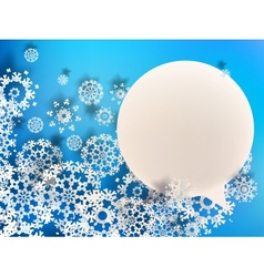 Abstract 3d snowflakes eps10 vector